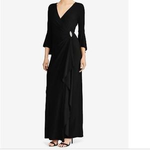 Lauren RL Black Long Evening Dress Size 10
